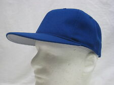 NEW ROYAL BLUE HAT BALL CAP FITTED LARGE 7 3/8 DEADSTOCK WOOL BLEND (U6)