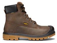 """Keen 1018663 Men's Baltimore 6"""" Waterproof Steel Toe Dk Brown Leather Work Boots"""