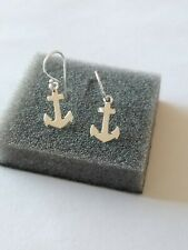 Sterling Silver Anchor Drops Hook Wire Ladies Girls Kids