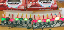 Lot of 14 Vintage Noma BUBBLE LIGHTS, 3 Not Working, 11 Working w Original Box