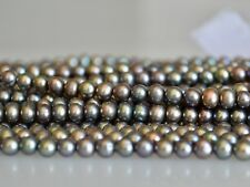 4x4.5mm Potato Freshwater Pearl Beads Peacock Grayish Color Genuine Pearl #880