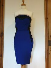 Lipsy London Michelle Keegan Sequin, Blue & Nude Fitted Party Dress, Size 12