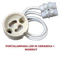 Portalampada GU10 in Ceramica Per Faretto 250V Lampadine a Led Mammut moc