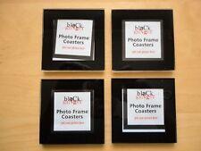 Black Ginger Personalised Photo Frame Glass Drink Coasters  Set of 4 XMAS GIFT