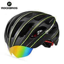 RockBros Luminated Helmet Unisex Road Bike MTB 57cm-62cm WT049 Black Green New