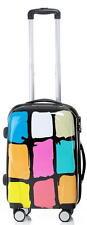 Hartschalenkoffer leicht 360° Rollen Motiv Colors Graffiti Farbquadrate Gr.M
