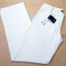 Pantalone taglia M donna cotone e lino SASCH vita media ampio zip estate