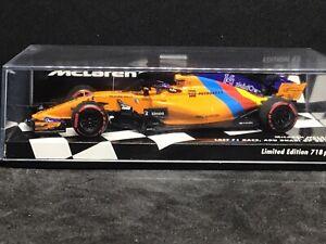 minichamps f1 1/43 F Alonso McLaren MCL33 Abu Dhabi GP 2018 Limited Edition 718