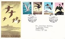 Jersey 1975 Seabirds FDC with enclosure VGC