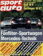 sport auto 1985 7/85 Lada Nova 2105 Kadett GSi Mantzel Kissling Golf GTI Oetting