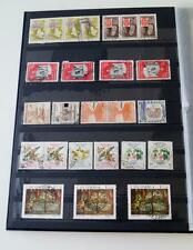 COLUMBIA Stamp Stock Book Binder Collection 16 pages 600+ stamps LV01479