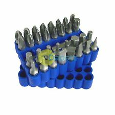 33PC Tamperproof Torx Star Hex Slotted Screwdriver Bit Set For Repair With Case