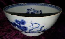 Chinese export blue & white vintage pre Victorian oriental antique bowl