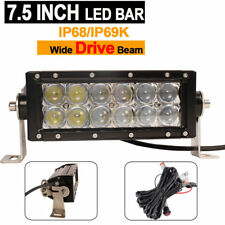 7.5 inche Off road LED Light Bar 5D lens Spot with Wire Harness for Jeep Motors