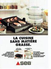 PUBLICITE ADVERTISING 0217  1995   Le Gril viande & Vitasaveur  SEB