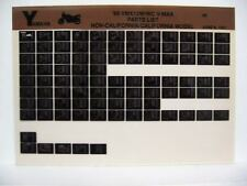 Yamaha VMX12 V-Max 1989 VMX1200W VMX1200WC  Parts List Manual Microfiche o21