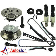 Timing Chain Kit+Cam Phasers+VVT Valves Set For Ford Lincoln With Seal & Screw