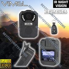 Body Camera Police Security Guard Recorder Portable Anti Vandal 32GB 1080P DVR