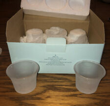 Partylite P8917G Set Of 6 Frosted Votive Cups Candle Holders