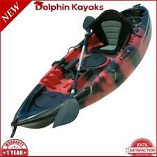 New Dolphin Kayak 2.7m Dolphin Fishing Kayak Deluxe Seat & Paddle - Black & Red