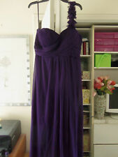 Gorgeous EVER PRETTY Ruched One Shoulder Evening Dress-Size 14-$99-NEW
