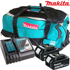 Makita 2 x BL1830 Battery + DC18RC Charger + LXT600 Bag For DDF458Z, DHP453Z