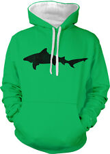 Shark Great White Tiger Attack Week Tornado Fin Teeth Two Tone Hoodie Sweatshirt