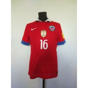 Chile soccer jersey Nike 2015 Size M Russia 2018 Qualifiers match worn