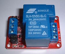single  30 A Relay board +cables for use with UNO/MEGA Rasberry pi  etc UK stock