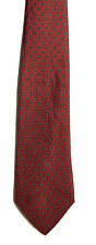 Men's New Silk Neck Tie, Classic, Red diamond dot design by Christopher Hayes