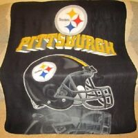 New Pittsburgh Steelers Fleece Throw Gift Blanket NIP NFL Football Team Stadium