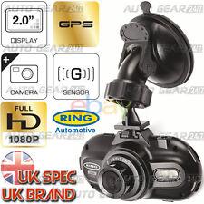 "Ring RBGDC200 In Car 2.0"" Display Dash Cam GPS Journey Recorder HD Camera Video"