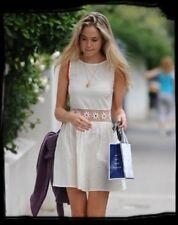 Topshop Ivory Cream Crochet Daisy Waist Summer Sun Dress - Size 12