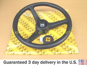 JCB BACKHOE - GENUINE JCB STEERING WHEEL (PART NO. 125/34900 125/35000)