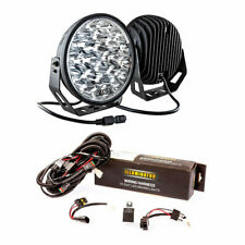 "Adventure Kings 9"" LED Driving Lights (Pair) + LED Driving Light Wiring Harness"