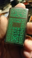 1977 Zippo lighter slim hp chrome Venetian similar pattern new condition no box