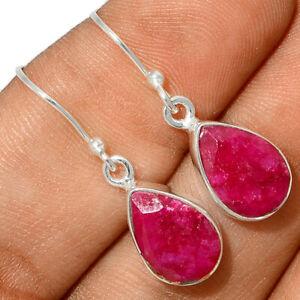 Ruby 925 Sterling Silver Earring Jewelry BE64045