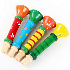 Baby Kids Children Musical Instrument Wooden Trumpet Hooter Bugle Suona Toy