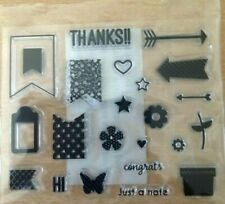 Sentiment  Thanks  Silicon Clear Rubber  Stamp Seal Scrap booking Cards UK stock