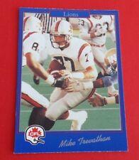1991 Jogo CFL Football Mike Trevathan Card #178***B.C. Lions***