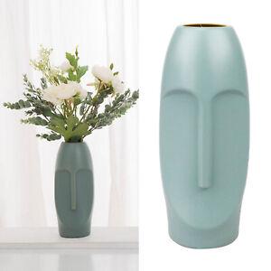 Flower Vase Human Body Face Planter Dried Flower Plant Pot Dinner Decor