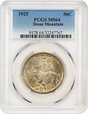 1925 Stone Mountain 50c PCGS MS64 - Silver Classic Commemorative