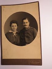 Freiburg i. B. - Pair-Woman & Soldier in Uniform-Regiment IR 111?/KAB