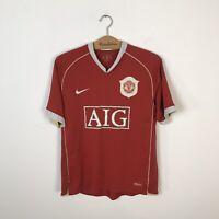 MANCHESTER UNITED HOME FOOTBALL SHIRT 2006/2007 SOCCER JERSEY NIKE MEN'S SIZE M