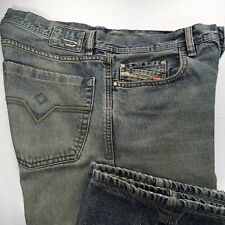 Diesel Industry Kuratt Mens 32x29 Premium Denim Loose Fit Blue Jeans Made Italy