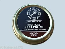 NEW - BROWN Army Boot Polish - MoD Approved - 50ml Tin - Army Cadets