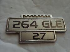 GENUINE VINTAGE - VOLVO 264 GLE 2.7 METAL CAR BODY BOOT MASCOT BADGE SCRIPT