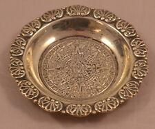 ORIGINAL PLAT-MEX-SA Schale 925 SILBER MEXICO Design Aztec native silver plate