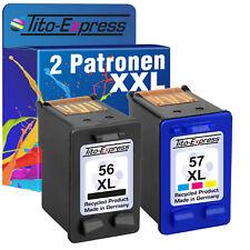 2 Patronen ProSerie für HP 56 & 57 PhotoSmart 7150 7260 7345 7350 7450 7550 7655
