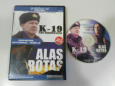 K-19 THE WIDOWMAKER + ALAS ROTAS DVD VIDEO CD VCD COMO SE HIZO MAKING OF